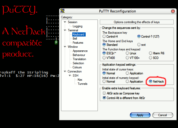 PuTTY - NetHack compatibility guaranteed!:D